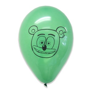 Gummibär (The Gummy Bear) Green Balloons - Set of 8