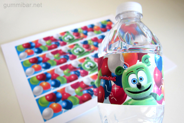 Gummibär Water Bottle Wrappers