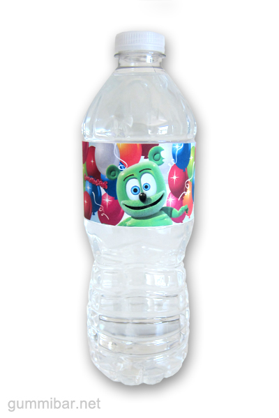 Gummibär Water Bottle Wrapper On Bottle