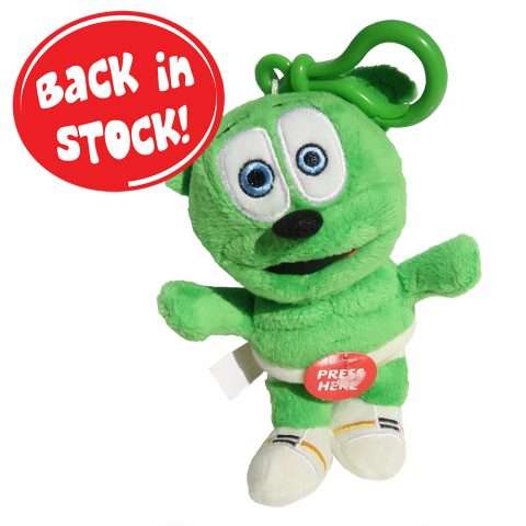 "Gummibär (The Gummy Bear) 5.5"" Singing Clip On Plush Toy"