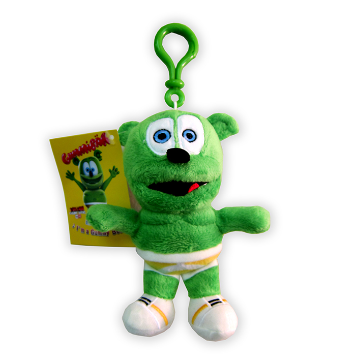 gummibar clip on plush toy