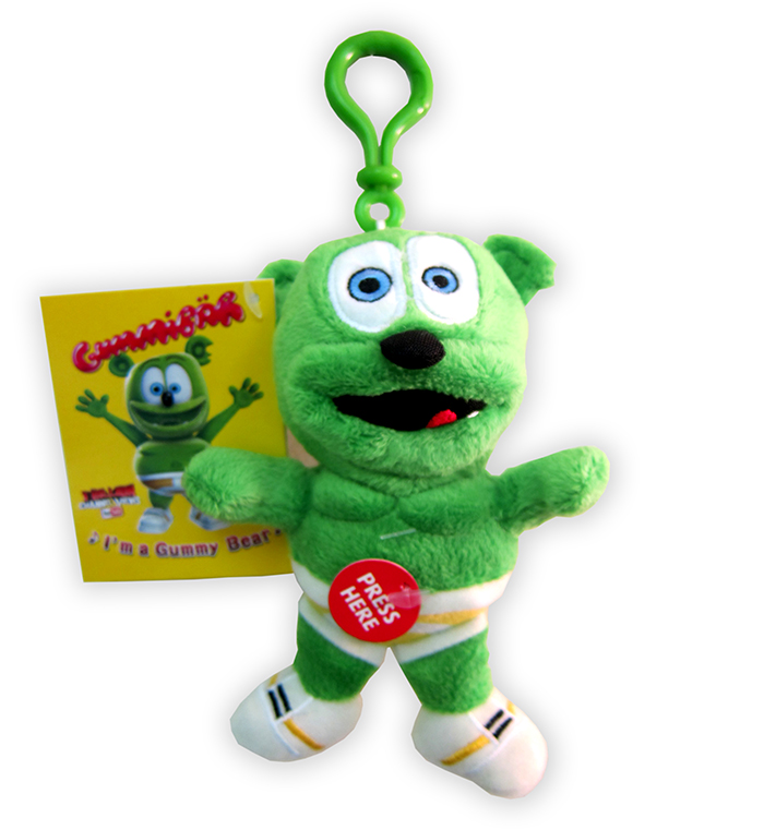 gummibar the gummy bear clip on plush toy