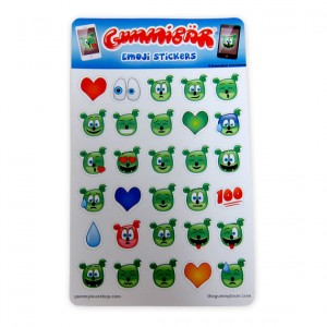 Gummibär Emoji Stickers ~ 2 Sheets ~ 60 Stickers