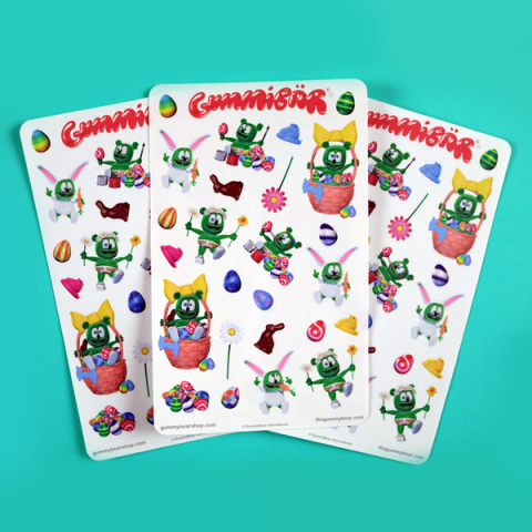 Gummibär Easter Planner Sticker Sheets ~ 3 Sheets ~ 78 Stickers