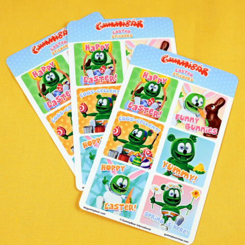 Gummibär (The Gummy Bear) Jumbo Easter Greetings Planner Sticker Sheets