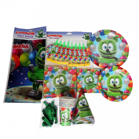 Gummibär (The Gummy Bear) Birthday Party Supplies ~ Set for 8