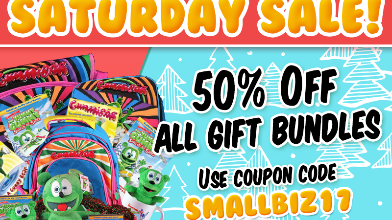small business saturdays gummibar the gummy bear the gummy bear shop gummibar shop i am a gummybear international kids childrens plush toys gift bundles holiday shopping savings