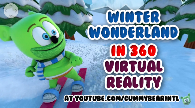 360 virtual reality winter wonderland video