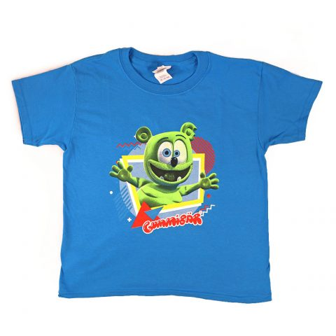Gummibär (The Gummy Bear) Youth Retro Shapes and Colors T-Shirt