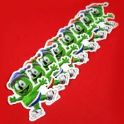 winter sticker set gummibar the gummy bear song i am a gummybear international fun adorable stickers wintertime holiday festive