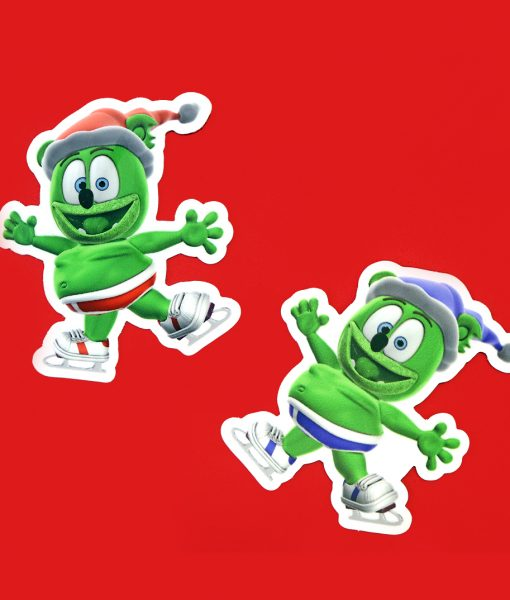 winter sticker gummibar the gummy bear ice skates festive holiday sticker the gummy bear song i am a gummybear ima gummy bear gummybear international