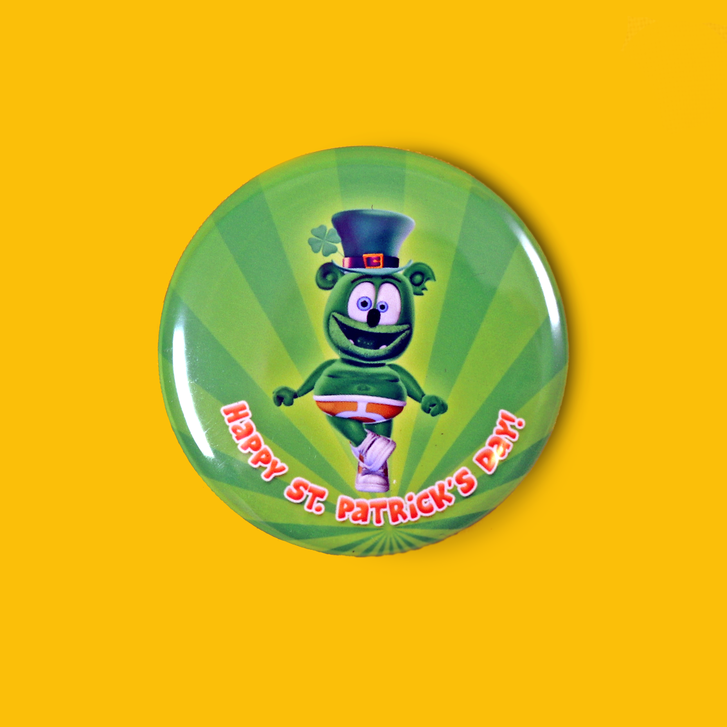 Irish Jig Gummibär (The Gummy Bear) Saint Patrick's Day Button