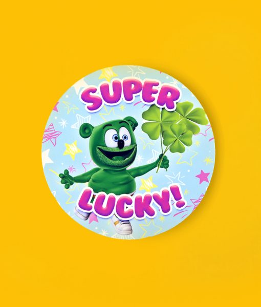 super lucky st. patrick's day sticker gummibar the gummy bear