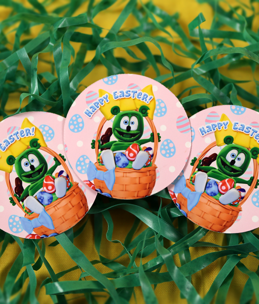 happy easter stickers gummibar the gummy bear set of 3