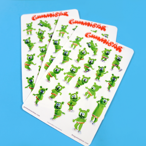 Gummibär (The Gummy Bear) Sticker Sheets ~ Dame La Gomita ~ 3 Sheets ~
