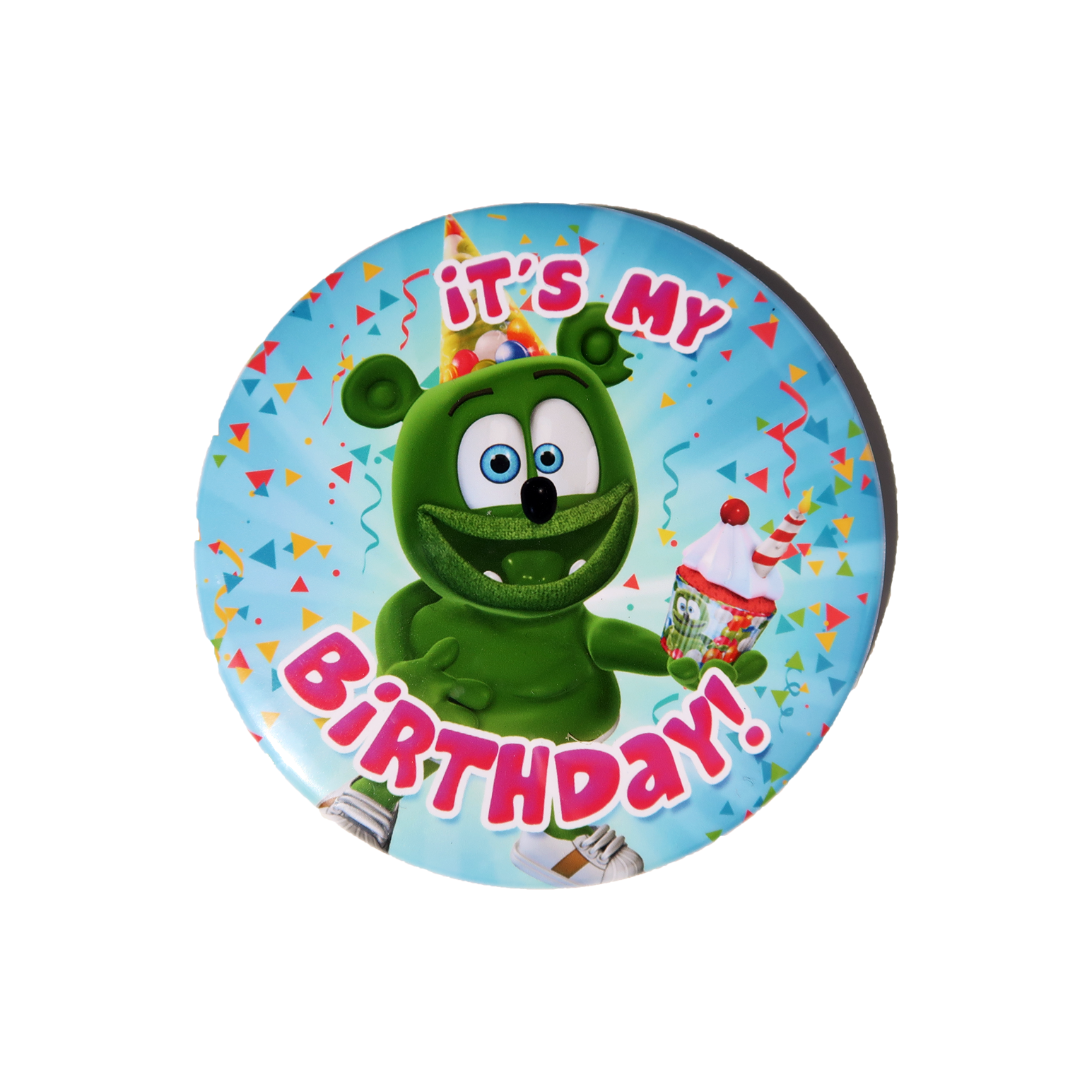 "Gummibär (The Gummy Bear) It's My Birthday! 3"" Pinback Button"