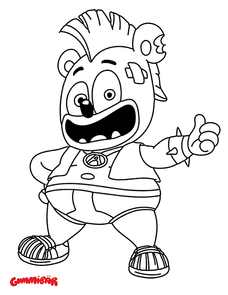 Gummibär (The Gummy Bear) Coloring Page | Biker Bär