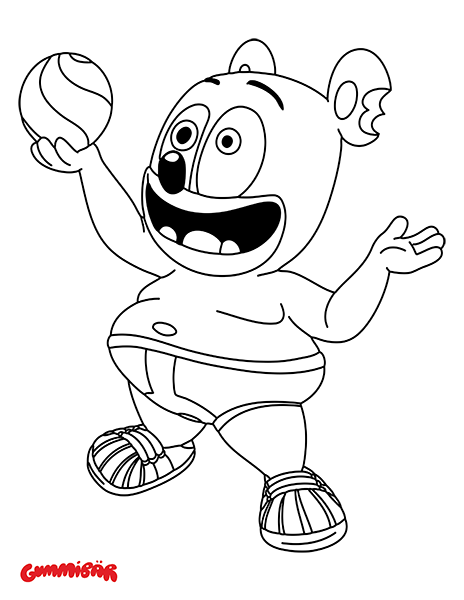 Gummibar The Gummy Bear Coloring Page Let S Play Ball