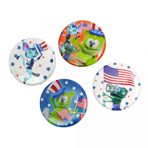 Gummibär (The Gummy Bear) 4th of July Buttons