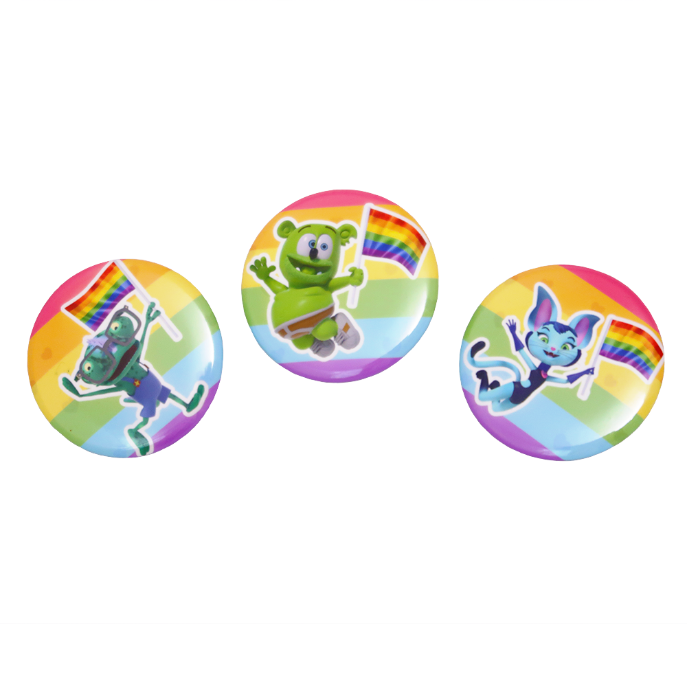 Gummibär (The Gummy Bear) Pride Buttons