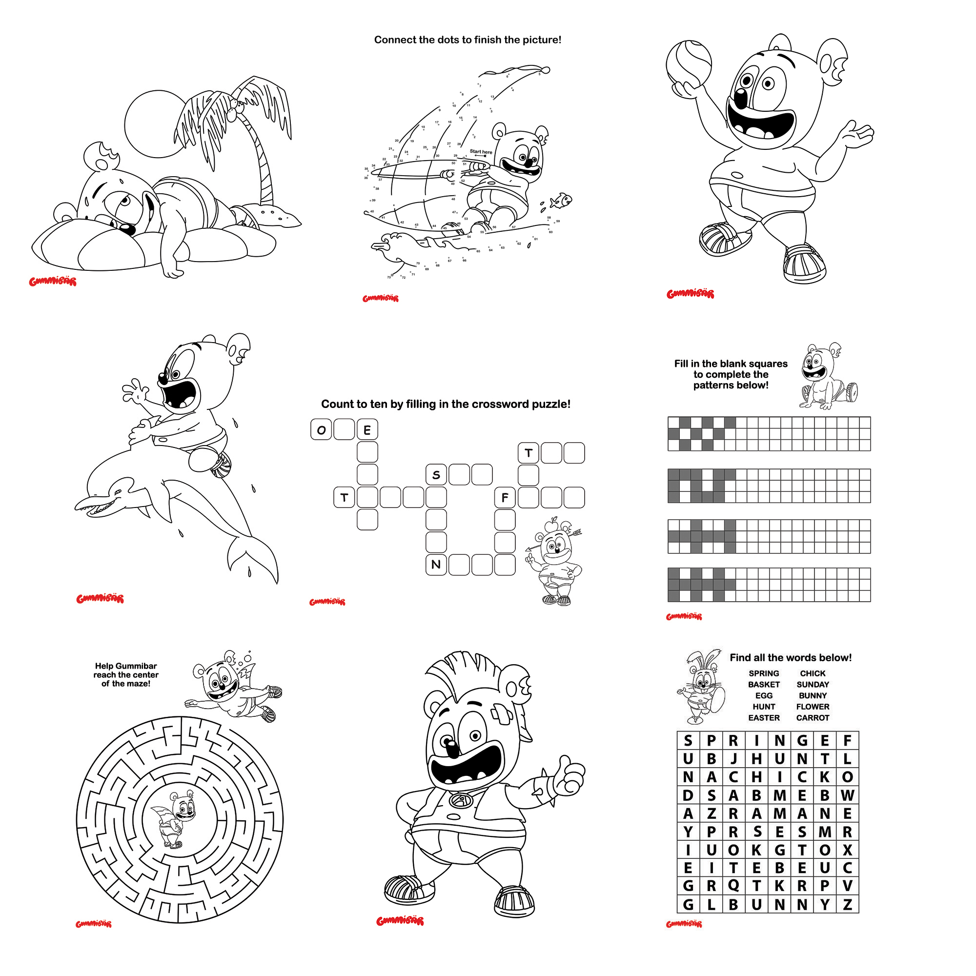 Gummibär (The Gummy Bear) Coloring & Activity Book | All Pages