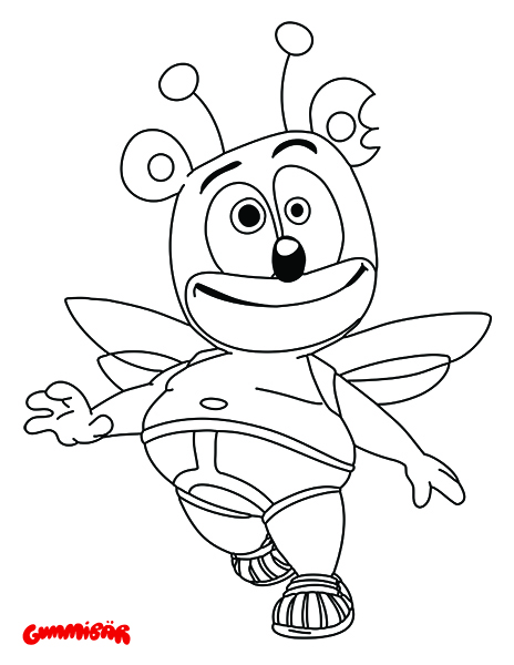 Gummibar The Gummy Bear Coloring Page Butterfly