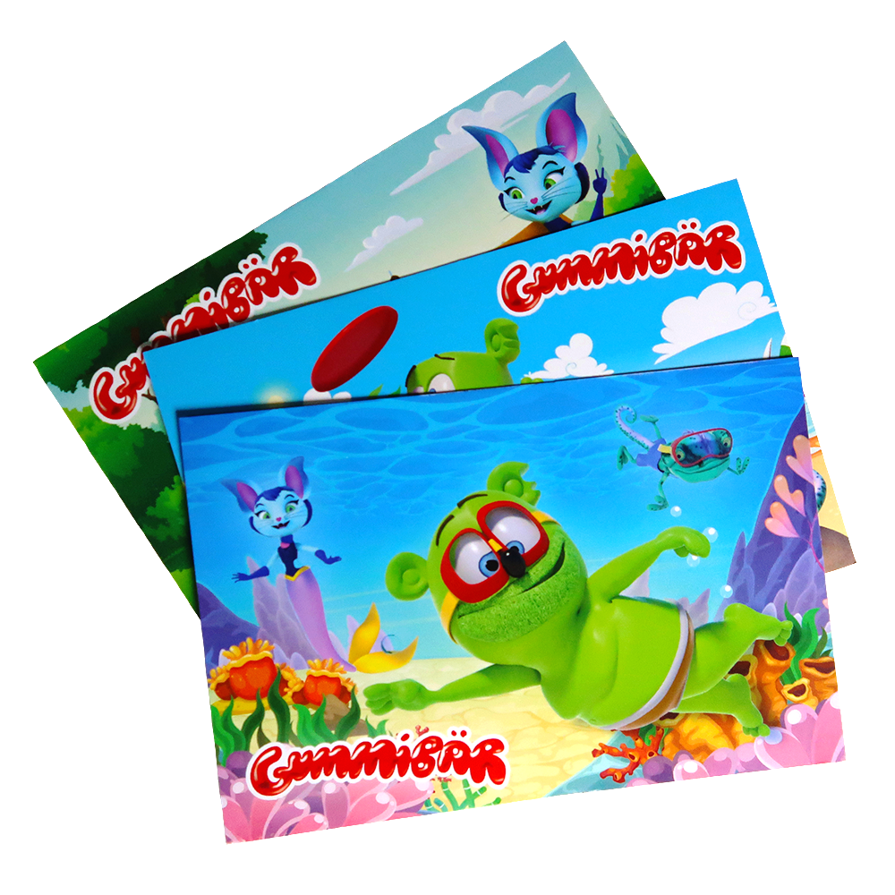Gummibär (The Gummy Bear) Summer Vacation Post Cards