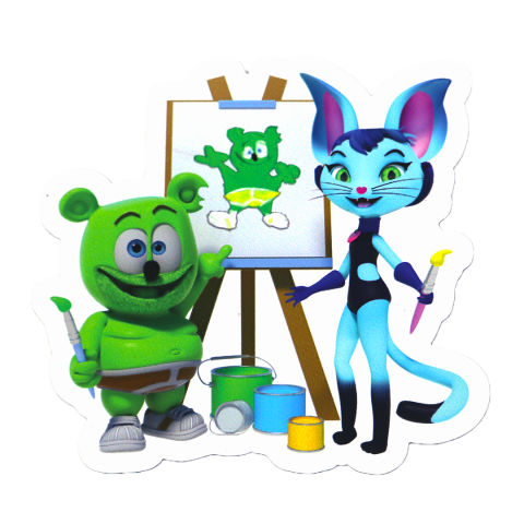 Gummibär (The Gummy Bear) & Kala Back to School Magnet