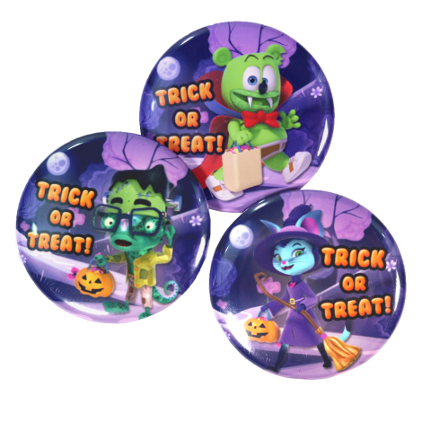 Gummibär (The Gummy Bear) Halloween Buttons ~ Set of 3