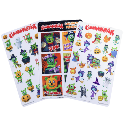 Gummibär (The Gummy Bear) Halloween Sticker Sheet Set