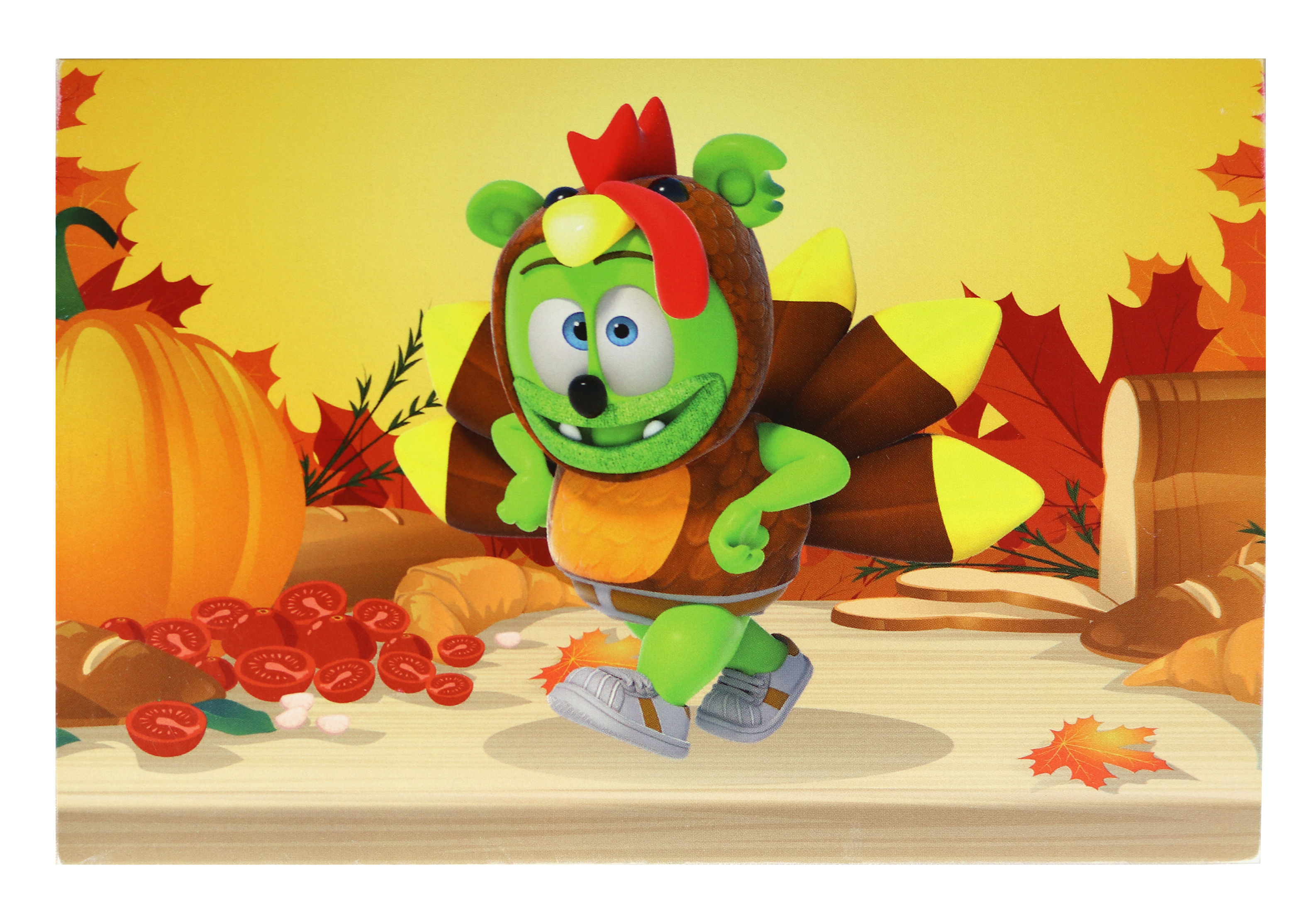 Gummibär (The Gummy Bear) Thanksgiving Greeting Card