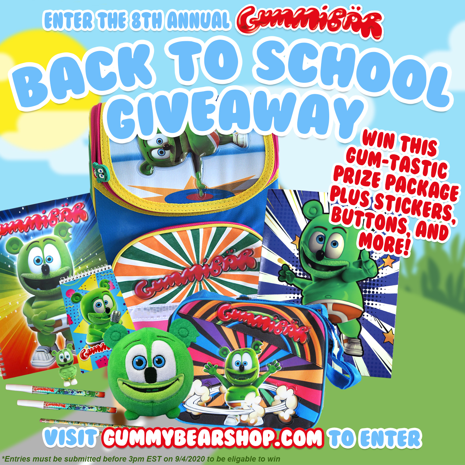 Enter to Win the Eighth Annual Gummibär Back to School Giveaway!